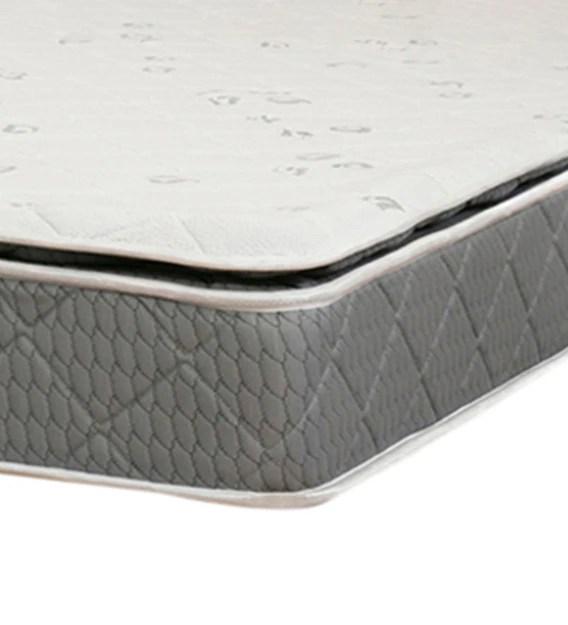 plush pillow top 6 inch king size bonnell spring pu foam mattress