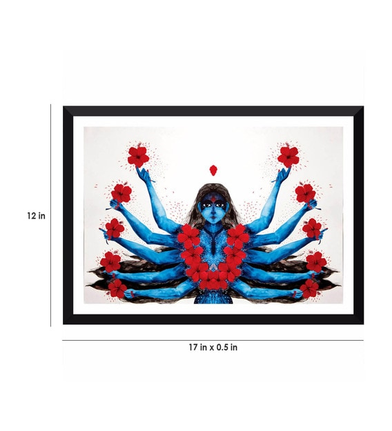 poster paper 17 x 12 inch contemporary art kali framed poster