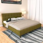 Buy Recharge King Size Upholstered Bed In Green Colour By Stoa Paris Online King Size Upholstered Beds Beds Furniture Pepperfry Product