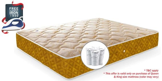 Single Size 75 X 48 8 Inches Thick Pocketed Spring Mattress By Amore International