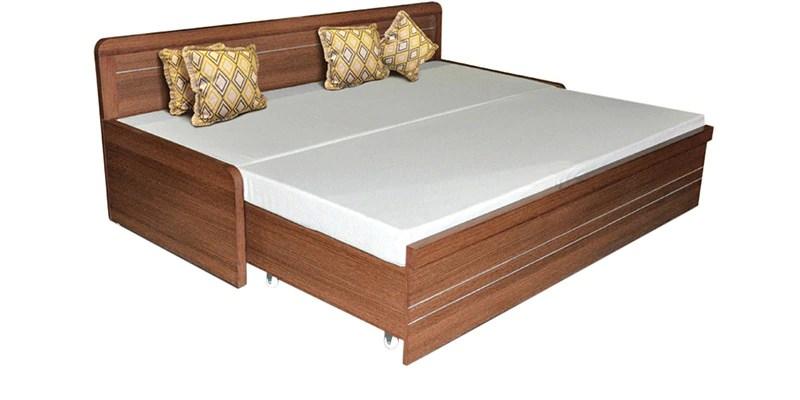 Buy Spacewood Metro Slider Bed With Mattress Online Engineered Wood Sofa Cum Beds Pepperfry