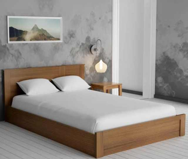 e1a16c05c8 Buy Subaru King Size Bed With Box Storage Bedside Table In Bronze Walnut  Finish By Mintwud