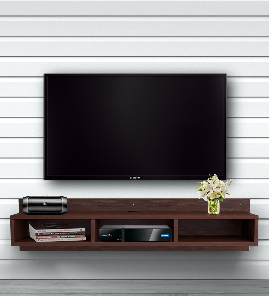 Buy Wallmounted Tv Shelf By Auspicious Home Online Tv Shelves Cabinetry Furniture Pepperfry Product
