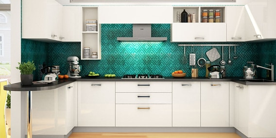 Buy Wendy U Shaped Modular Kitchen Designed In MDF With
