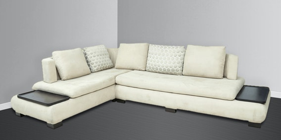 denver rhs sectional sofa in off white colour