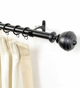 buy brown iron set of 2 curtain rods