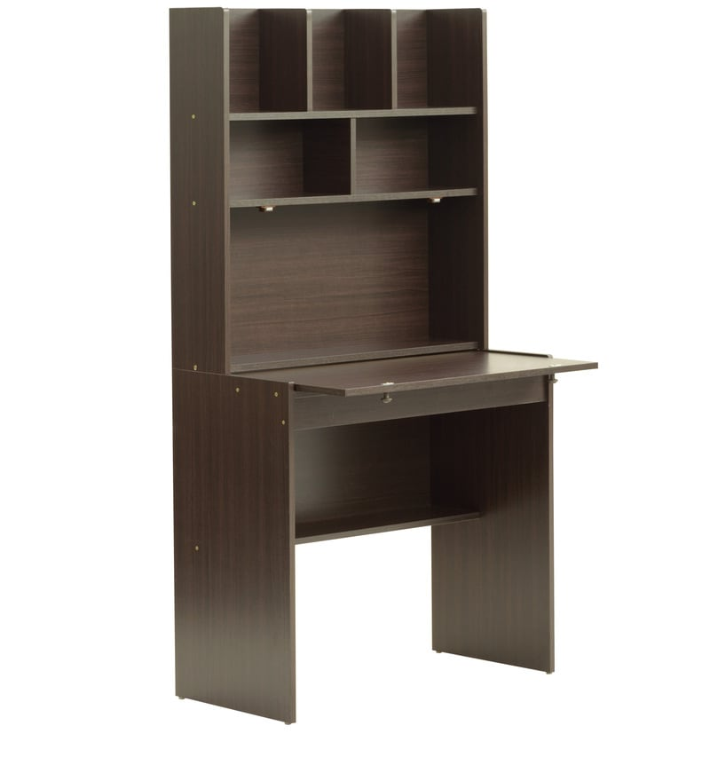 Buy Study Table With Shelves In Wenge Finish By Marco