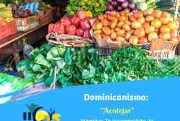 dominicanismo acotejar