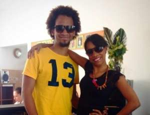 Berenice Franco and Luis Pichardo from IIC Spanish School in Santo Domingo show that 13 is a lucky number.