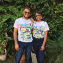 IIC Spanish School facilitator Luis Ramon and assistant Berenice Franco looking good in their new school t-shirts.