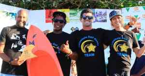 """The four athletes from Team Carambola Surf House are the winners of the 2021 Master of the Ocean-contest that took place September 14 to 18, 2021, in the new """"Capital of Wind and Surf"""": Cabarete, Dominican Republic."""