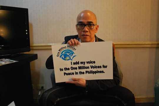 Boy Abunda endorses One Million Voices for Peace in the Philippines Campaign