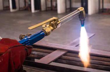 Oxyacetylene Torch cutting