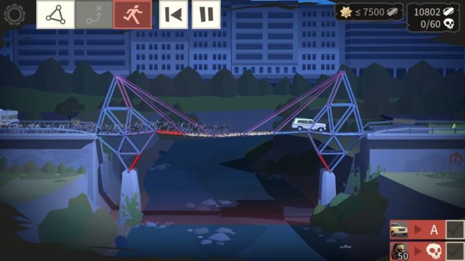 Bridge Constructor - The Walking Dead Gameplay