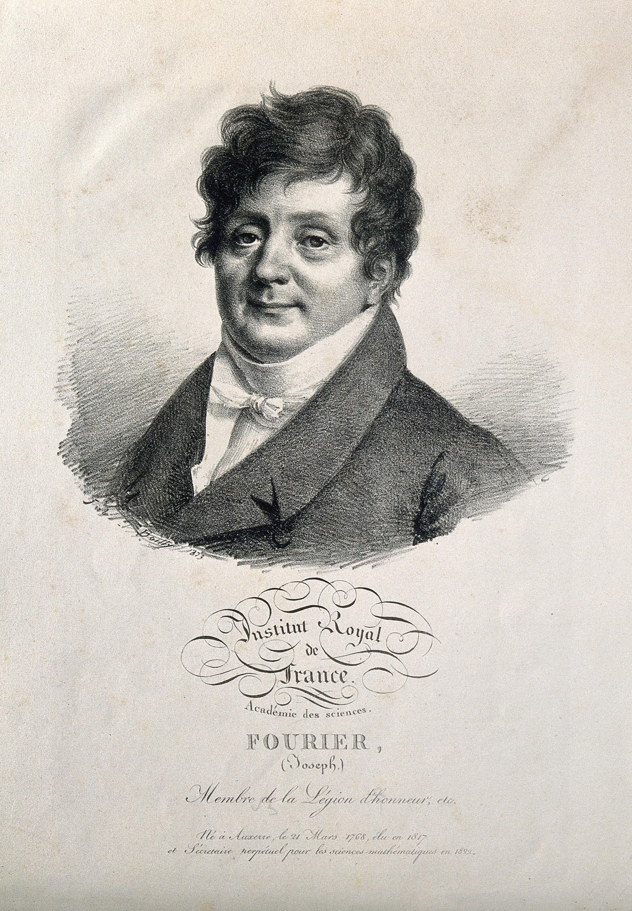 Jean Baptiste Joseph Fourier Lithograph By J Boilly