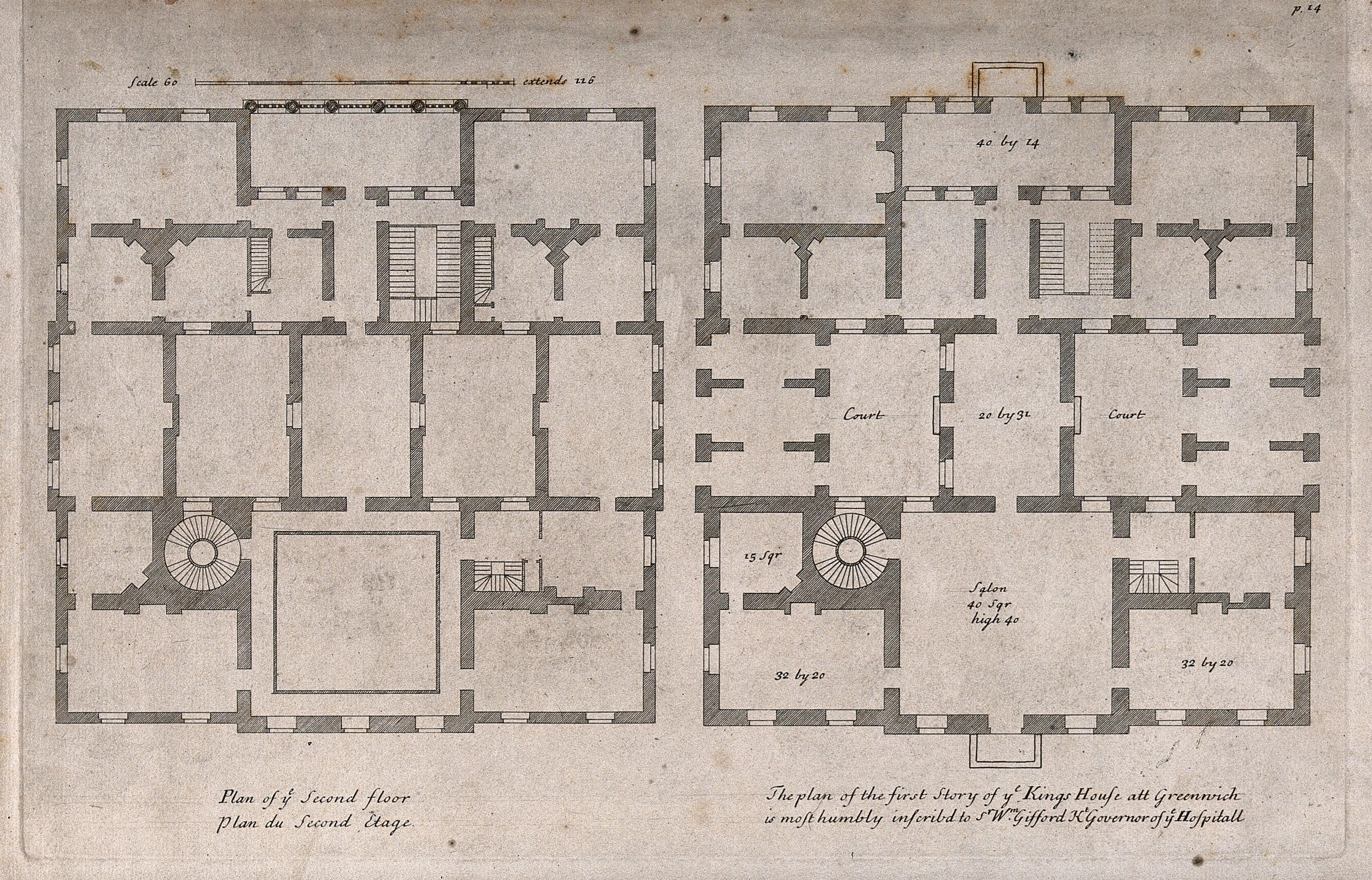 The Queens House Greenwich Plans Of The Ground And