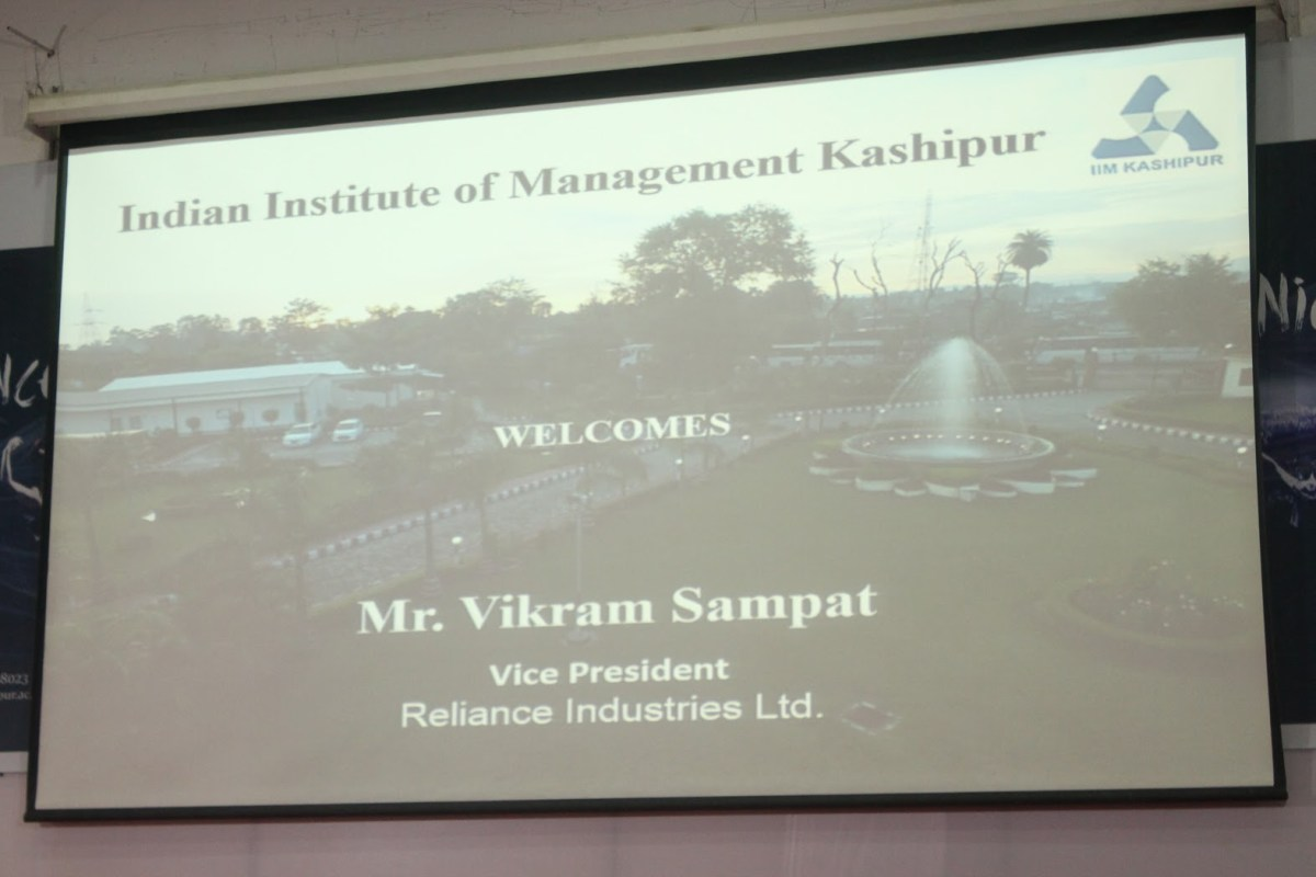 Guest lecture by Mr. Vikram Sampat