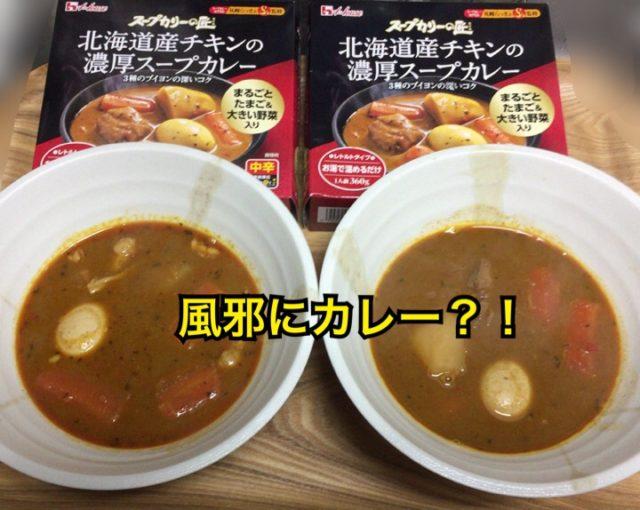 風邪にスープカレーって効くの?よくない?体調崩した夫婦で実験!