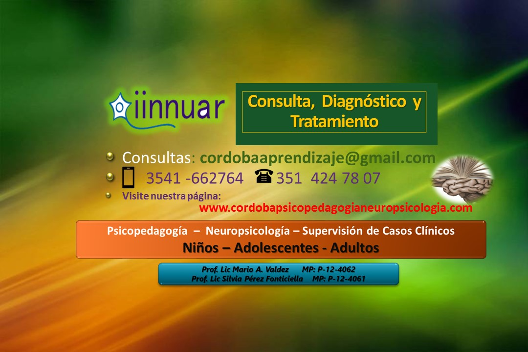 PSICOPEDAGOGIA – NEUROPSICOLOGIA en Córdoba.