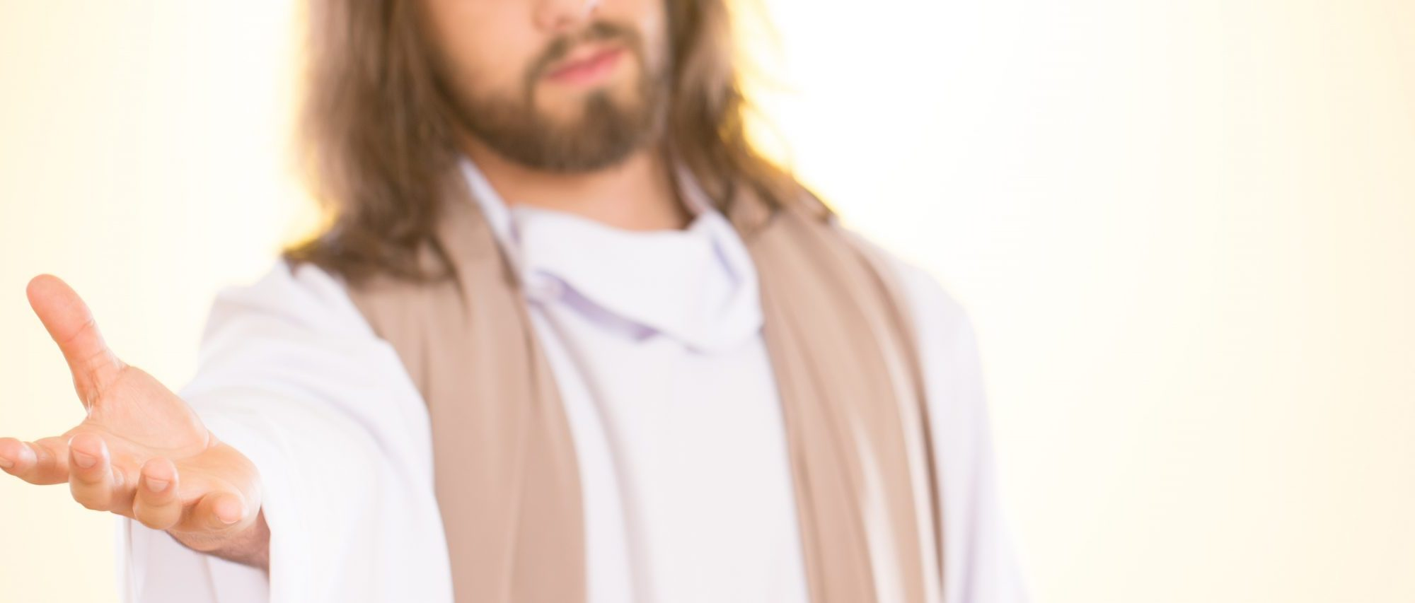 Jesus reaching out his hand