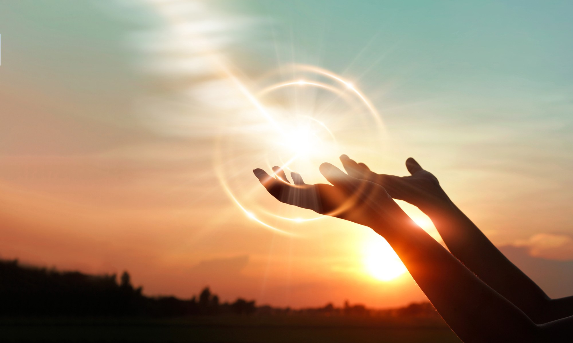 Hands receiving the holy spirit