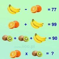 Owocowa zagadka z równaniami 9