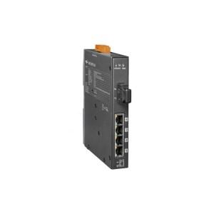 NSM-205PFCS CR : PoE Switch/4 Eth/1 Fiber/SC/Sin-Mod/60km/Metal