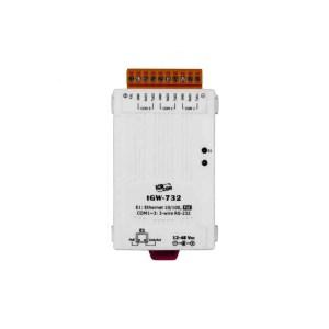 ICP DAS tGW-732 CR : Tiny/Gateway/Modbus RTU/TCP/PoE/3 RS-232