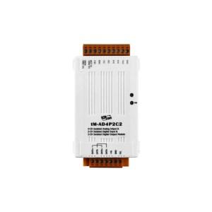 tM-AD4P2C2 CR : I/O Module/Modbus RTU/4 AI/2 DO/2DI
