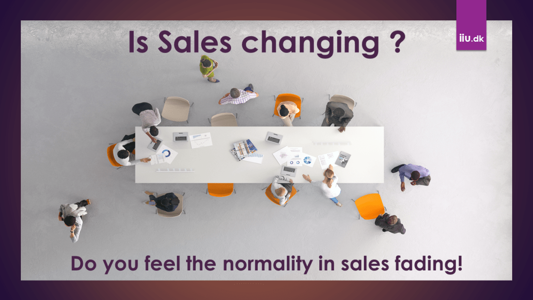 Sales are Changing