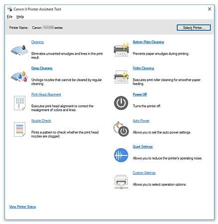 IJ Printer Assistant Tool Windows OS