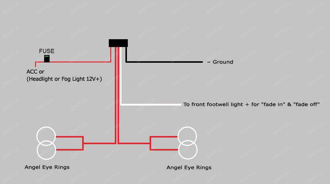 LED BMW Angel Eyes Halo Ring Kit For E36 E46 3 Series E39