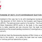 Zenith Bank Issues Press Release, Denies Funding Fayose