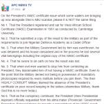 [News] : Buhari's WAEC Certificate Vs Dino Melaye's ABU Certificate Scandal: APC News TV