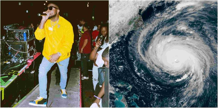 Davido Cancels US Performance Due To Hurricane Florence
