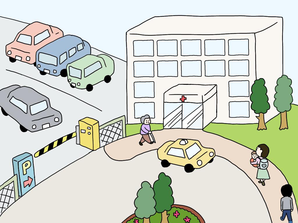 病院の車寄せ