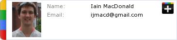 Iain MacDonald's Google Plus Profile