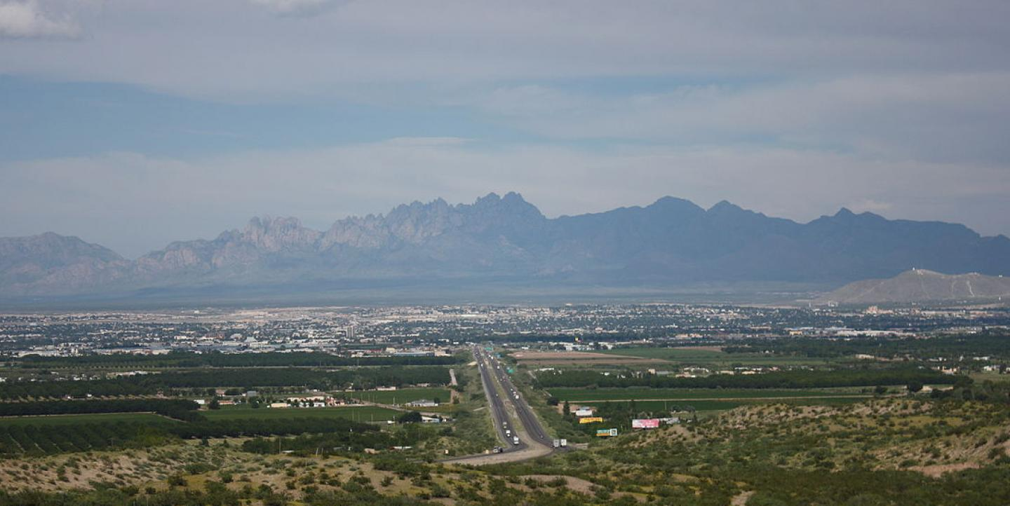 New Mexico And Las Cruces Border Mexico