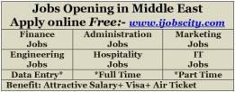 Jobs in Dubai, Abu Dhabi, Bahrain, Saudi Arabia, Kuwait, Qatar, UAE
