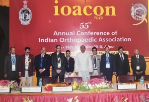 Dr Johari as President of Indian Orthopaedic Association during IOACON 2010, Jaipur