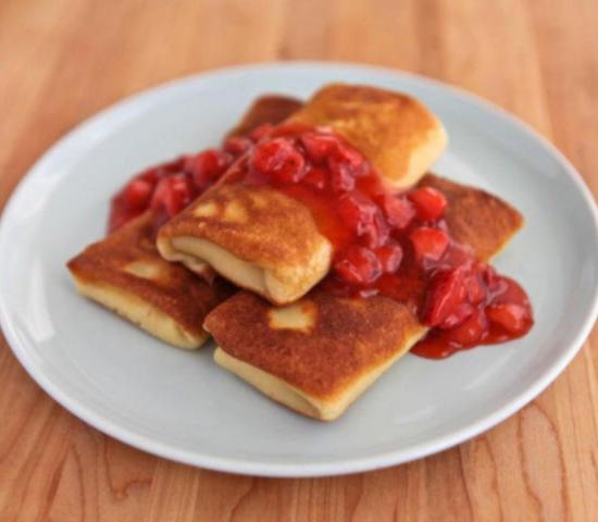 Простой рецепт фаршированные блинчики со сливочным сыром