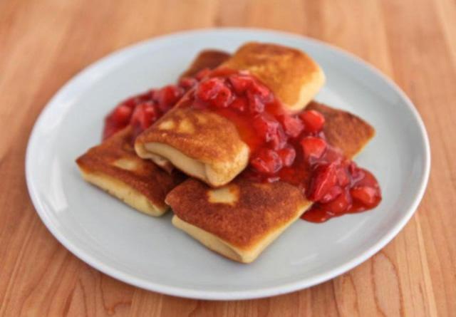 Фаршированые блинчики с сыром простой рецепт с фото
