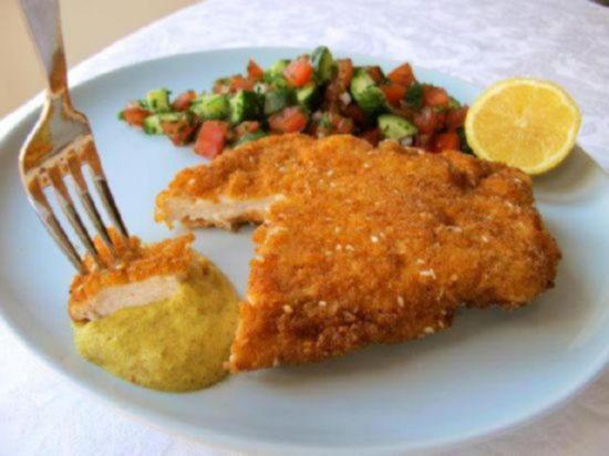 шницель из куриных грудок пошаговый рецепт с фото