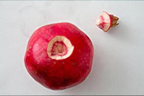 Сделайте конусообразный разрез вокруг плодоножки