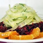 Сладкий душистый салат из сырой свёклы фенхеля и апельсинов