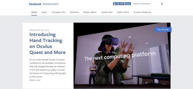 facebook newsroom- what is wordpress