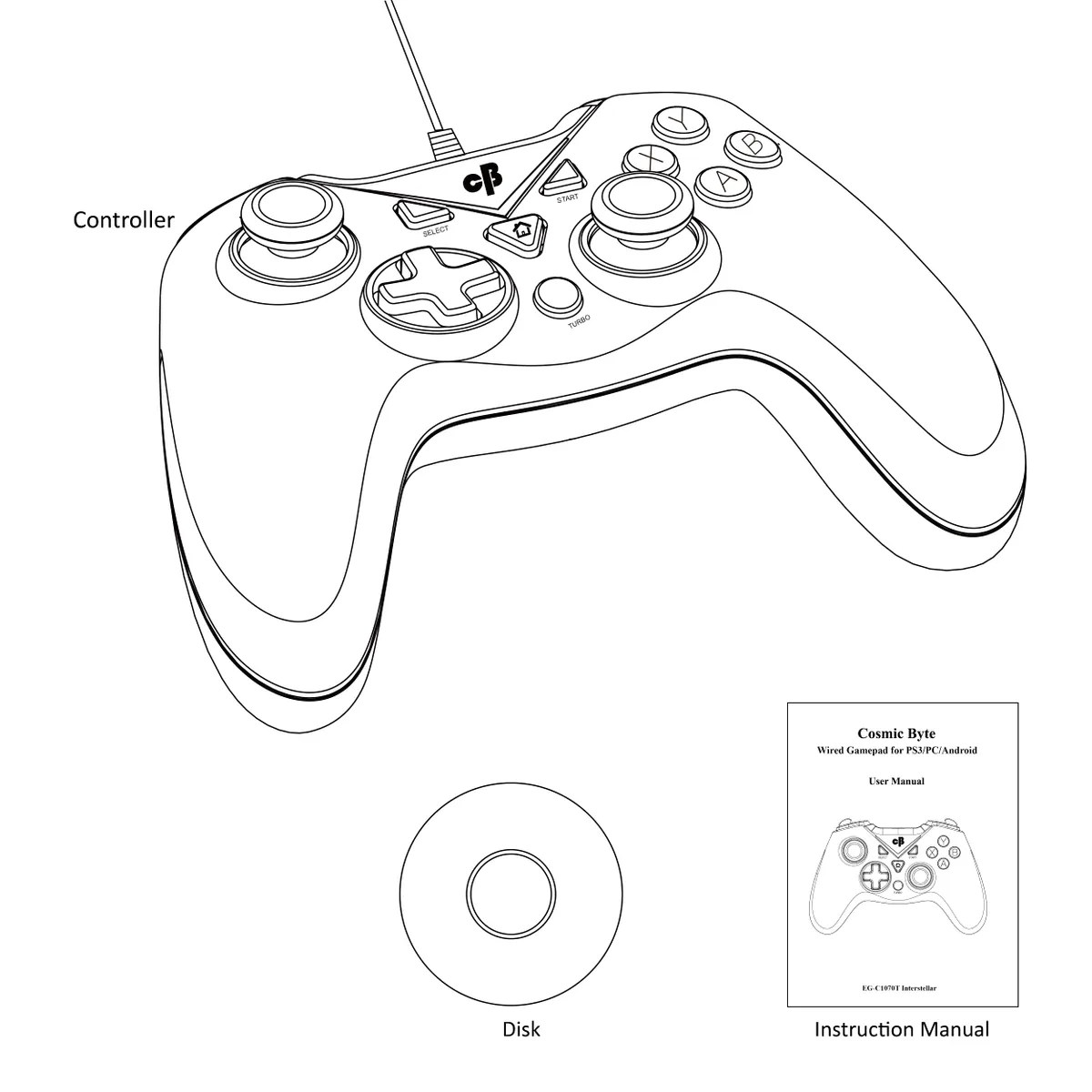Cosmic Byte C T Interstellar Wired Gamepad For Pc Ps3