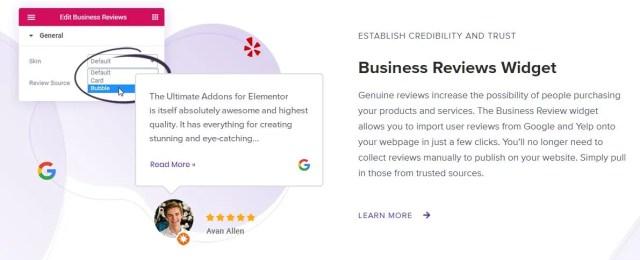 Business Reviews Widget UAE