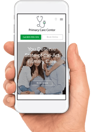 responsive primary care website mobile