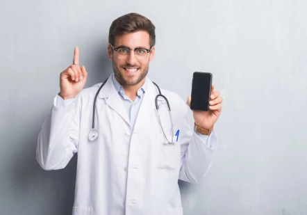 doctor holding up one finger